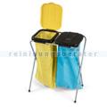 Mülltrennsystem Nölle Müllsackständer 2-fach gelb-schwarz