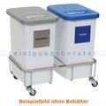 Mülltrennsystem Novocal GSE25 Fahrgestell Edelstahl 2fach