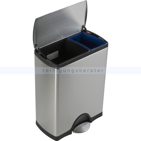 Neu Simplehuman rechteckiger Recycler 30/16 L Edelstahl CW1830 OV49