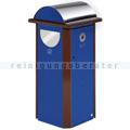 Mülltrennsystem VAR AG 60 mit Ascher enzianblau 120 L