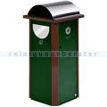 Mülltrennsystem VAR AG 60 mit Ascher moosgrün 120 L