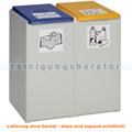 Mülltrennsystem VAR Kunststoffcontainer 2-fach 40 L