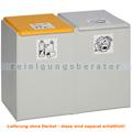 Mülltrennsystem VAR Kunststoffcontainer 2-fach 60 L