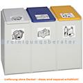 Mülltrennsystem VAR Kunststoffcontainer 3-fach 40 L