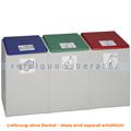 Mülltrennsystem VAR Kunststoffcontainer 3-fach 60 L