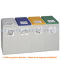 Mülltrennsystem VAR Kunststoffcontainer 4-fach 40 L