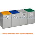 Mülltrennsystem VAR Kunststoffcontainer 4-fach 60 L