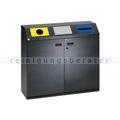 Mülltrennsystem VAR WS 97 3-fach antik-silber 3 x 80 L