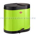 Mülltrennsystem Wesco Treteimer 170 2x15 L limegreen
