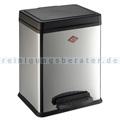 Mülltrennsystem Wesco Treteimer 380 2 x 10 L Edelstahl