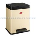 Mülltrennsystem Wesco Treteimer 380 2 x 10 L mandel