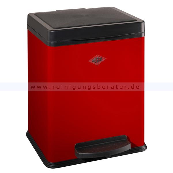 Mülltrennsystem Wesco Treteimer 380 2 x 10 L rot