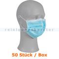 Mundschutz Abena Gesichtsmaske 3-lagig Typ IIR blau 50 Stück