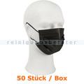 Mundschutz Abena Gesichtsmaske 3-lagig Typ IIR schwarz 50er