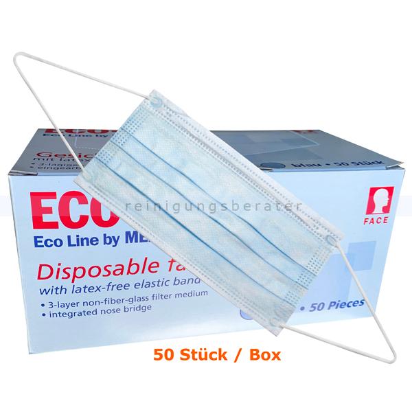 Medizinischer Mundschutz Ampri ECO Plus 3-lagig Typ II mit runden, latexfreien Elastikbändern, medizinisch EN 14683 02401-B