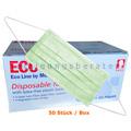 Mundschutz Ampri ECO Plus 3-lagig Typ II grün 50 Stück
