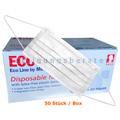 Mundschutz Ampri ECO Plus 3-lagig Typ II weiß 50 Stück
