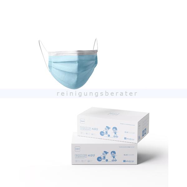 Mundschutz für Kinder Freedom Basic 3-lagig PP blau 30 Stück