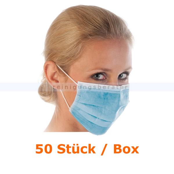 Mundschutz Hygostar Civil Use PP blau 50 Stück/Box unsteril, fusselfrei, Einmalgebrauch 29146