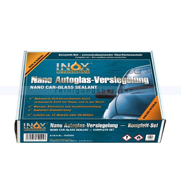 INOX Nano Car Glas Versiegelung Box Nanoversiegelung Komplettset für Autoscheiben, Spiegel, Scheinwerfer 1505500