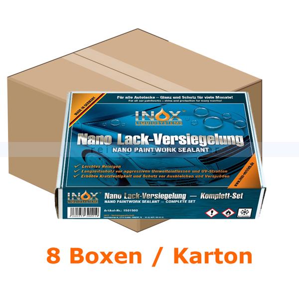 INOX Nano Lackversiegelung Karton Nanoversiegelung 8 Boxen, Glanz und Schutz für viele Monate 1501500