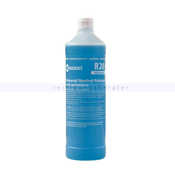 ReinigungsBerater Neutralreiniger R 20 SC 2000 Serie 1 L besonders gut gegen Öle, Fette und Eiweiße in der Küche