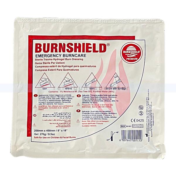 Leina Werke Notfall Brandgel Leina BurnShield Gesichtsmaske für Erstversorgung von Verbrennungen, 20 cm x 45 cm 41082