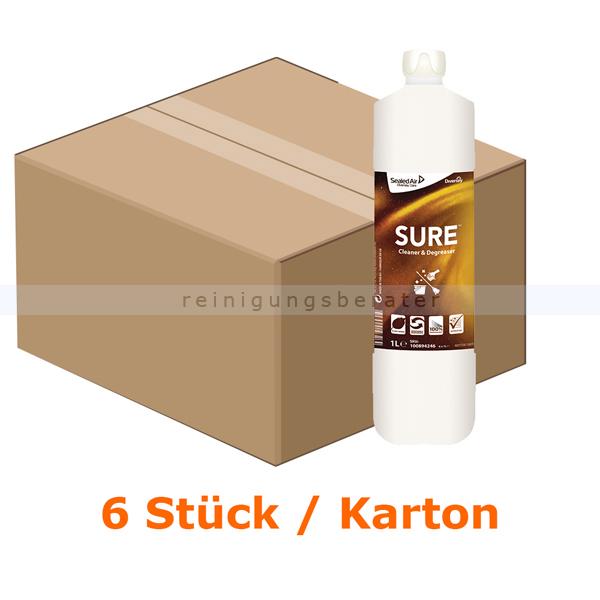Diversey SURE Cleaner & Degreaser 6 x 1 L Fettlöser, für wasserfeste Oberflächen