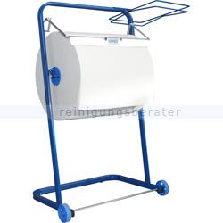 Papierhalter WIPEX mit Sackhalter aus Metall