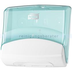 Papierhandtuchspender Tork für Reinigungstücher weiß/türkis