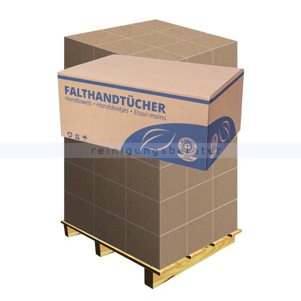 Papierhandtücher 2-lagig hochweiß V-Falz 25 x 23cm, Palette
