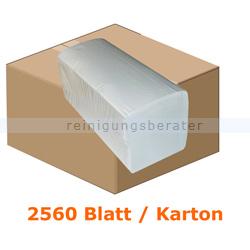 Papierhandtücher 2560 Blatt hochweiß 21x32 cm