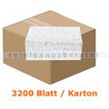 Papierhandtücher 3200 Blatt hochweiß m. Farbmuster 25x21 cm