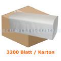 Papierhandtücher 3200 Blatt hochweiß Zellstoff 25x21 cm