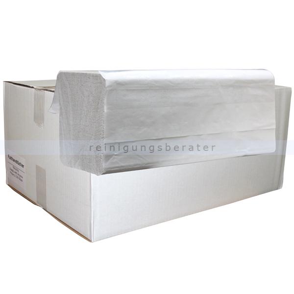 Papierhandtücher 3200 Blatt weiß m. Farbmuster grün 25x21 cm