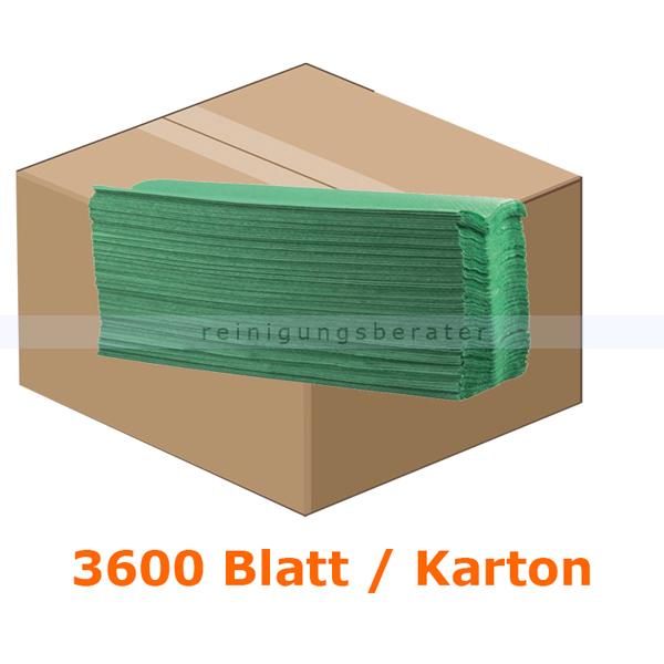 Papierhandtücher 3552 Blatt grün 25x33 cm