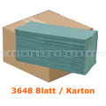 Papierhandtücher 3648 Blatt grün 25x32 cm