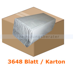 Papierhandtücher 3648 Blatt natur 25x32 cm
