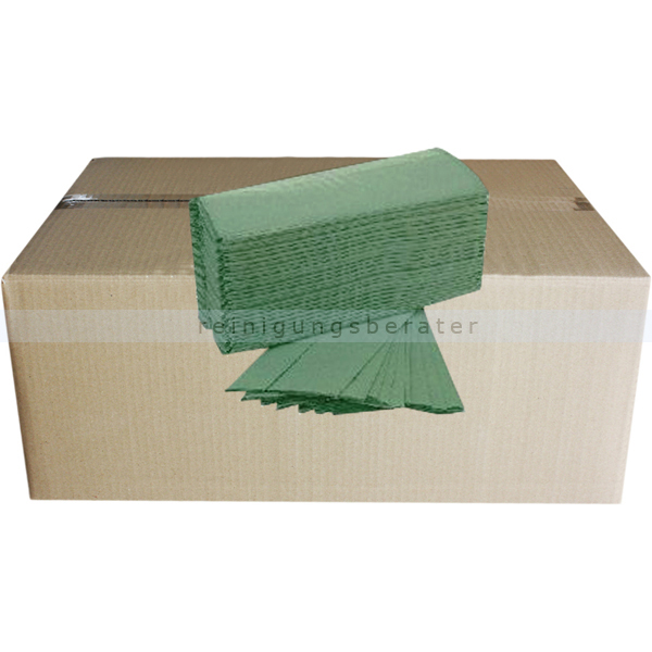 Papierhandtücher 5000 Blatt grün 25x21 cm