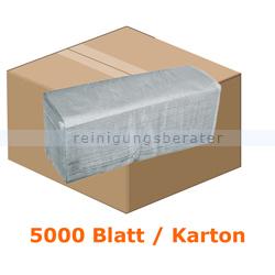 Papierhandtücher 5000 Blatt natur 25x20 cm grau