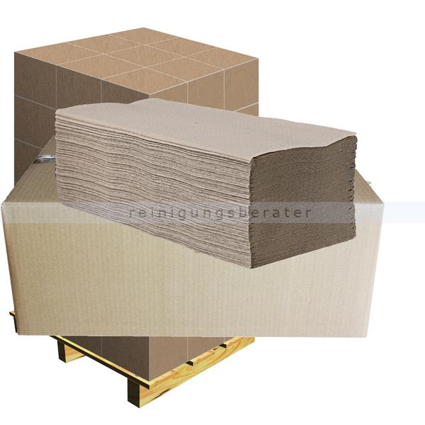 Papierhandtücher 5000 Blatt natur 25x20 cm, Palette