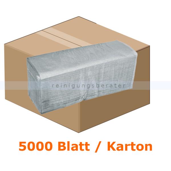 Papierhandtücher 5000 Blatt natur 25x21 cm grau