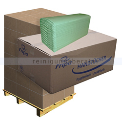 Papierhandtücher Fripa grün 25x33 cm, Palette