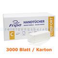 Papierhandtücher Fripa Tissue 3000 Bl. hochweiss 25x23 cm