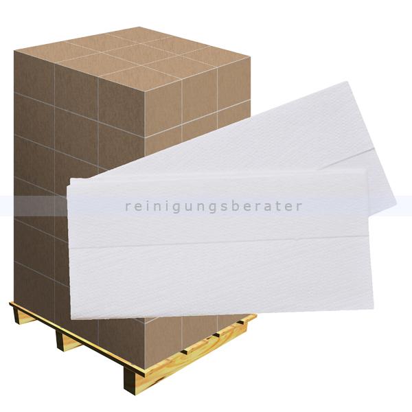 Papierhandtücher hochweiß 21x32 cm, Palette