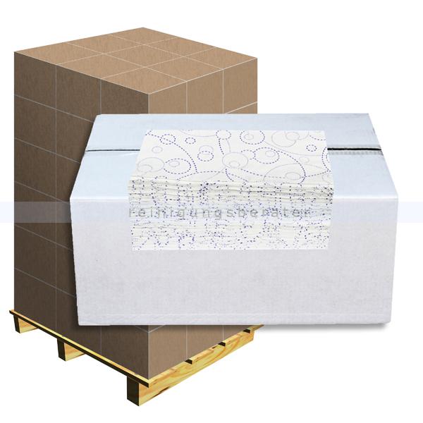 Papierhandtücher hochweiß mit Farbmuster 25x21 cm, Palette
