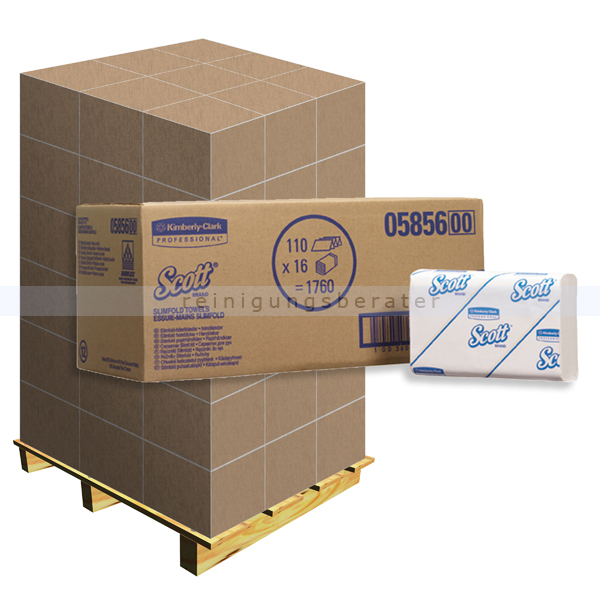 Papierhandtücher Kimberly Clark SCOTT® SLIMFOLD, Palette