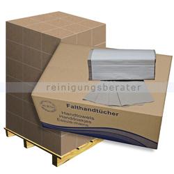 Papierhandtücher natur 25x23 cm, ZZ-Falz, Palette