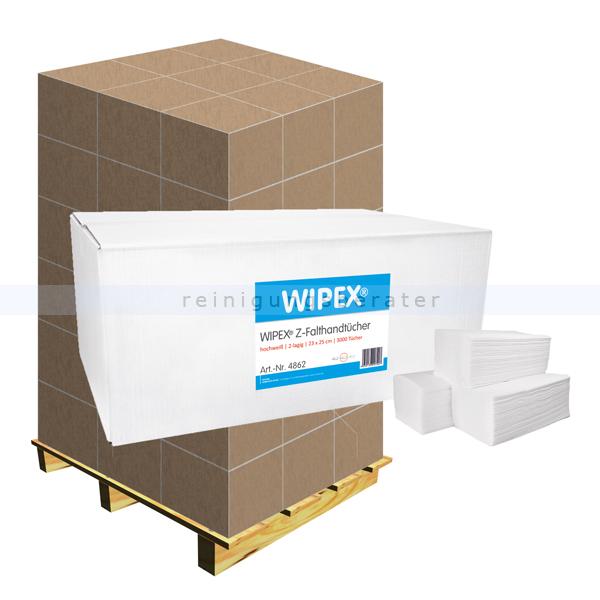 Papierhandtücher Nordvlies WIPEX Z-Falt Palette PZN 14886504