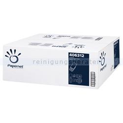 Papierhandtücher Papernet 2300 Blatt weiß 22x32 cm